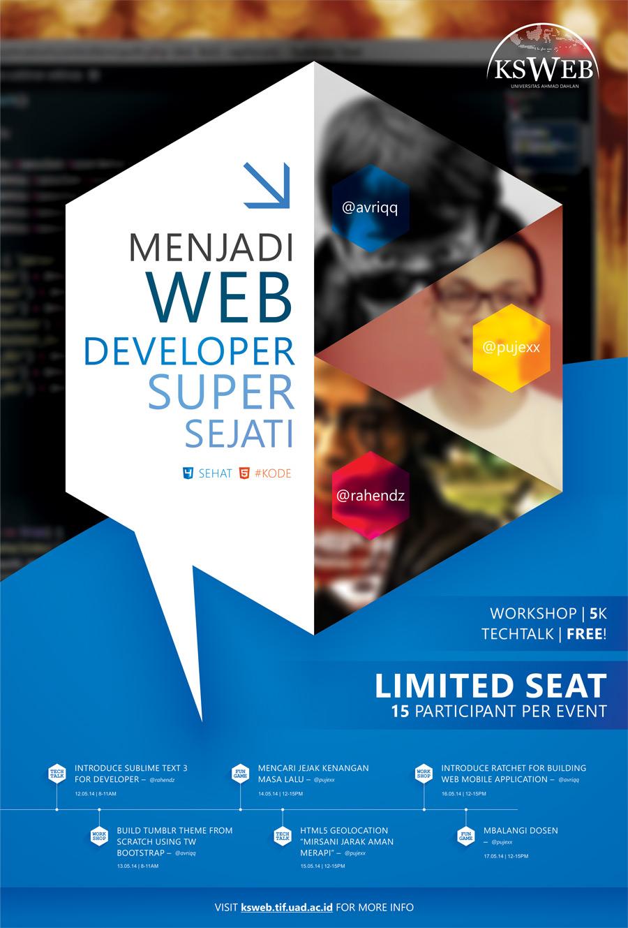 ksweb event - menjadi web developer super alami sejati