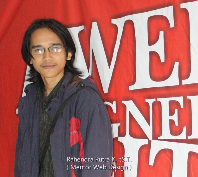 rahendra putra k mentor kelompok studi web bagian web design