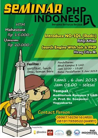 seminar php indonesia yogyakarta dengan ksweb uad dan hmtif uad